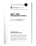 Salve Regina University Undergraduate Catalog 2003-2005 by Salve Regina University