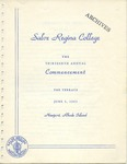 Salve Regina College Thirteenth Annual Commencement program, 1963