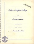 Salve Regina College Fifteenth Annual Commencement program, 1965