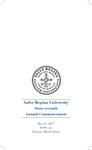 Salve Regina University Sixty-Seventh Annual Commencement program, 2017 by Salve Regina University
