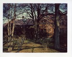 Angelus Hall between trees by Joseph Souza
