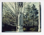 Mary statue in Spring