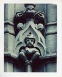 Ochre Court stone figure upclose by Joseph Souza