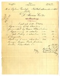 Duplicate bill from L. Alavoine Co. to Ogden Goelet by L. Alavoine Co.