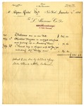 Invoice from L. Alavoine Co. to Ogden Goelet by L. Alavoine Co.
