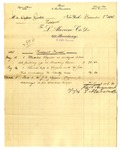 Invoice from L. Alavoine Co. to Ogden Goelet; Invoice from J. D. Johnston by L. Alavoine Co. and J. D. Johnston