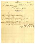Invoice from L. Alavoine Co. to Ogden Goelet; Invoice from J. D. Johnston by L. Alavoine Co. and J. D. Johnston
