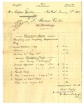 Invoice from L. Alavoine Co. to Ogden Goelet