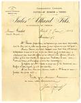 Letter from Jules Allard