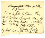 Receipt from Jules Allard to Ogden Goelet
