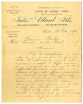 Letter from Jules Allard to Ogden Goelet