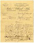 Letter from Jules Allard to Madame Goelet