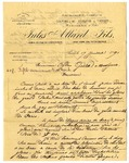 Letter from Jules Allard to Ogden Goelet by Jules Allard Fils