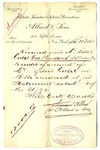 Receipt from Allard & Sons to Robert Goelet on acccount of Ogden Goelet (duplicate)