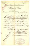 Receipt from Allard & Sons to Robert Goelet on acccount of Ogden Goelet (duplicate)