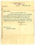 Letter from Richard M. Hunt to Ogden Goelet