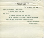 Letter from L. Marcotte & Co. to Robert & Ogden Goelet
