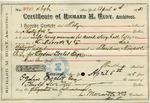 Receipt from Richard M. Hunt to Ogden Goelet by Richard Morris Hunt and L. Marcotte & Co.