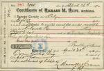Receipt from Richard M. Hunt to Ogden Goelet, no. 3985