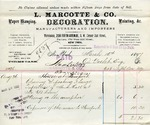 Receipt from L. Marcotte & Co. to Ogden Goelet by L. Marcotte & Co.