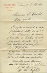 Letter from Ch. Rafard to Ogden Goelet