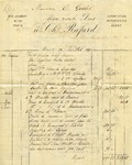 Invoice from Ch. Rafard to Ogden Goelet