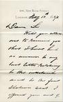 Letter from George Donaldson to Ogden Goelet