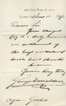 Letter from George Donaldson to Ogden Goelet
