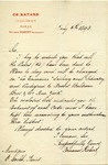 Letter from Fernand Robert, successeur to Ch. Rafard