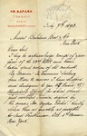 Letter from Fernand Robert, successeur to Ch. Rafard, to Baldwin Bros. & Co.