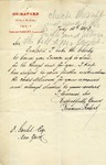 Letter from Fernand Robert, successeur to Ch. Rafard to Ogden Goelet