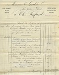 Receipt from Fernand Robert, successeur to Ch. Rafard to Ogden Goelet