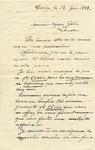 Letter from Mr. Samson to Ogden Goelet