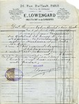 Invoice from E. Lowengard to Ogden Goelet