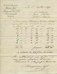 Estimate from Maison Vail to Madame Goelet