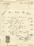 Receipt from Henri Stettiner to Ogden Goelet