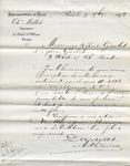 Receipt from Millot to Robert and Ogden Goelet