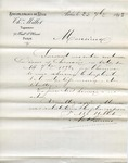 Letter and receipt from Millot to Ogden Goelet