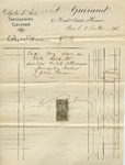 Receipt from Guiraud to Madame Goelet