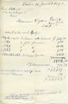 Copy of original bill from Henri Stettiner to Ogden Goelet