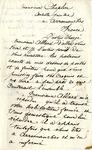 Letter from Ogden Goelet to Charles Chaplin