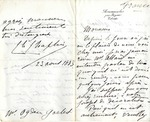 Letter from Charles Chaplin to Ogden Goelet by Charles Joshua Chaplin