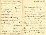 Letter from F. K. Pendleton to Mr. Goelet