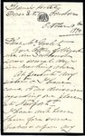 Letter from Mary Lloyd Pendleton to Mr. Goelet; Envelope addressed to Ogden Goelet by Mary Lloyd Pendleton