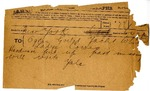 Telegram from Yale to Ogden Goelet by Post Office and John Yale