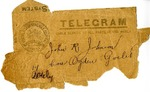 Envelope from Postal Telegraph-Cable Company to John R. Johnson and Ogden Goelet