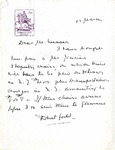Letter from Robert Goelet to Mr. Weaver
