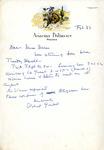 Letter from Robert Goelet to Miss Morris