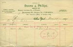 Receipt from Owens & Phillips to Ogden Goelet
