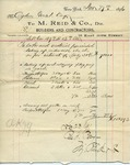 Receipt from M. Reid & Co. to Ogden Goelet